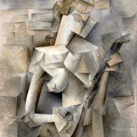 Pablo Picasso, 1910, Girl with a Mandolin (Fanny Tellier)